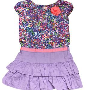 Cherokee 2T Girls Multicolor Flower Dress